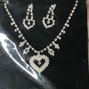 Heart set earrings and necklace